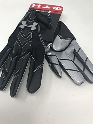 Under Armour New Heat Gear Blitz Adult Football Gloves Black/Gray Small