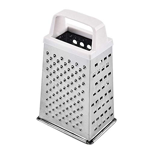 Cortador de vegetales de cocina 430 Acero inoxidable Rallador 4 lados Trituradora vertical Slicer Compact y fácil de transportar Gorra de rotación manual con caja de almacenamiento de alimentos (blanc