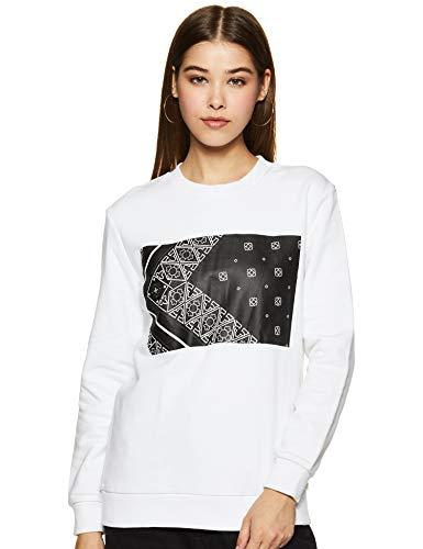 Calvin Klein Jeans Women's Cotton Sweatshirt (J209861112XS_Bright White_XS)