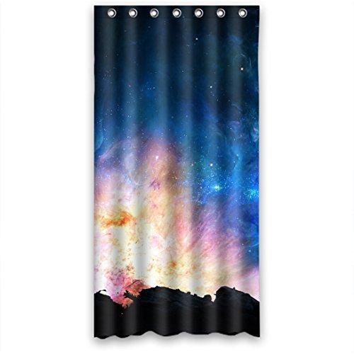 Doubee Mysteriöse Galaxy Wasserdicht Polyester Duschvorhänge Haltbarer Shower Curtain - 90cm x 183cm Mit Haken
