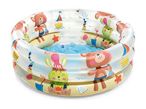 Gravidus Planschbecken Baby Aufblasbares Planschbecken - Beach Buddies Baby Pool Kinderplanschbecken - Mehrfarbig 61 x 22 cm in 33 L