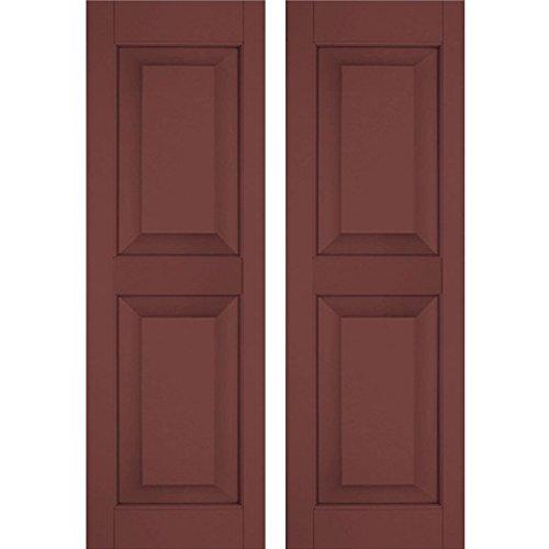 Ekena Millwork RWR18X052CRP Exterior Real Wood Pine Raised Panel Shutters (Per Pair), 18