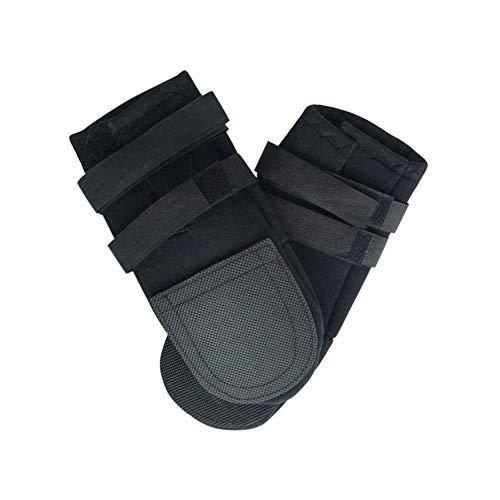 Animales perro Botas Botas Calcetines negros impermeables zapatos de goma for perros lluvia no del resbalón Cachorros zapatos al aire libre al aire libre for las pequeñas grande de zapatos perro #HJ (