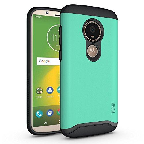 TUDIA Motorola Moto E5 Play Hülle, Slim-Fit Merge Dual Layer Schutzhülle für Motorola Moto E5 Play (Minze)