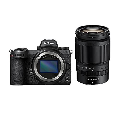 Nikon Z6II +24 200 f 4-6.3 VR Fotocamera Mirrorless Full Frame, CMOS FX da 24.5 MP, 273 Punti AF, Mirino OLED da 3.690k Punti Quad VGA, 4K, LCD 3.2 , Nero, [Nital Card: 4 Anni di Garanzia]