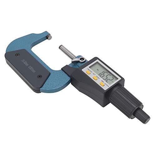 Legierungsdickenmikrometer, Außenmikrometer, breite Anwendung Verchromte Messgeräte für Werkstattwerkzeuge Werkstattbedarf Messwerkzeug(25-50mm)