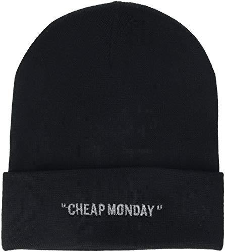 Cheap Monday Beanie Cheap Review Cuffia, Nero (Black Black), Unica (Taglia Produttore: OneSize) Uomo