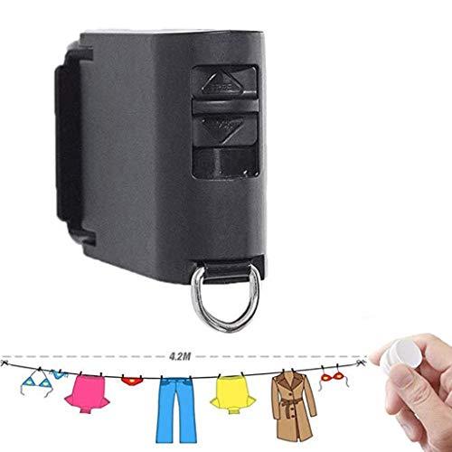 SHYPT Tendedero - retráctil for Tender la Ropa con la Cuerda Ajustable Cuerda Hotel Estilo de Altas Prestaciones for baño, montado en la Pared de lavandería línea de Secado for la Ducha (Color : B)