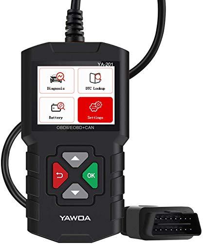 EDIAG YA201 OBD2 Scanner Fehlercodeleser für Autos, Motoren, Datenstrom, Wiedergabe, Modell 6, Batterietest, Kostenloser Code Reader