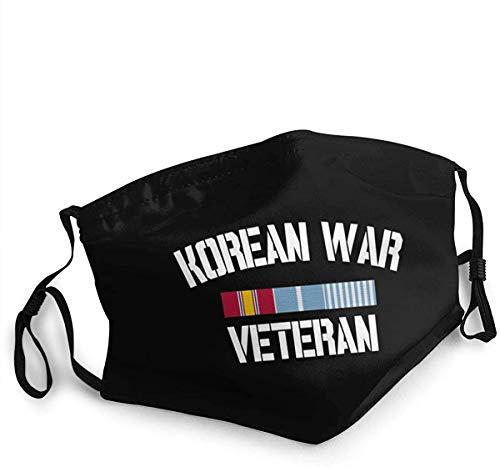 wuqiumin11 Unisex Mundschutz Koreakrieg Veteran Pride Korea Service Ribbon Wiederverwendbarer Stoff Mundschutz verstellbar