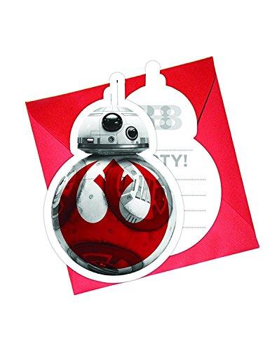 Generique 6 Einladungskarten + Umschläge Star Wars Die letzten Jedi