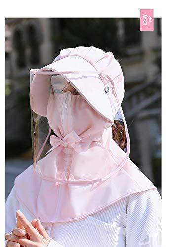 Ying-feirt Anti-UV zonnebrandcrème fietsen beschermkap Anti-Saliva epidemie zonnescherm gezicht grote dakrand isolatie masker
