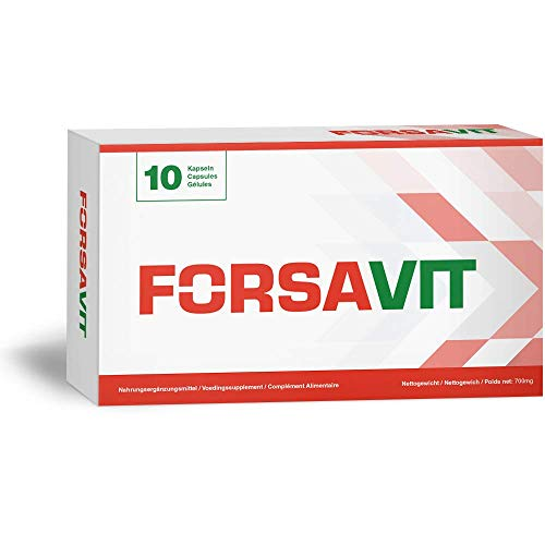 Forsavit - Energie und Kraft Stimulans - Innovative Formel - 10 Tabletten
