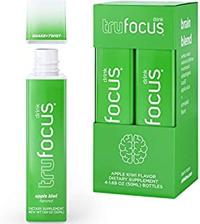 Tru Focus | All Natural Focus Energy Shots | Nootropics with Adaptogenic Herbs | Genius Brain Blend (Delici...