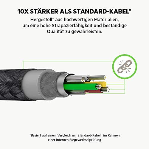 Belkin Boost Charge USB-C-Kabel mit Lightning Connector und Band (mit DuraTek hergestellt) – USB-C-/Lightning-Kabel für iPhone12, 12Pro, 12Pro Max, 12 mini und ältere Modelle, 1,2 m - Weiß