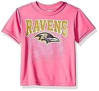 NFL Baltimore Ravens Baby-Girls Short-Sleeve Tee, Pink, 12 Months