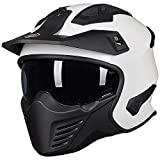 ILM Open Face Motorcycle 3/4 Half Helmet for Moped ATV Cruiser Scooter DOT (White, M)
