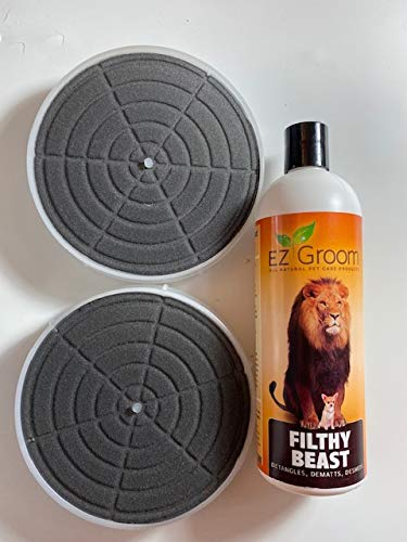 Filthy Beast Shampoo - 16 oz + Genuine K-9 Dog Dryer Filters - Dog Grooming