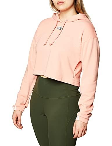 adidas Originals Damen Cropped Hoodie Kapuzenpullover, Rostra, 36