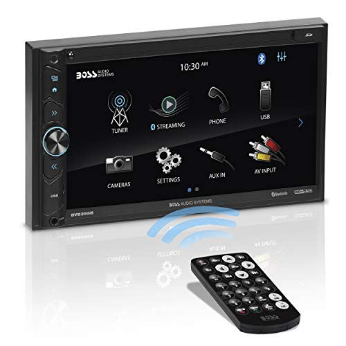 BOSS Audio Systems BV9395B Car Multimedia Receiver - Double Din, A-Link (Screen Mirroring), Bluetooth Audio and Hands-Free Calling, 6.95 Inch Touchscreen, USB, SD, No CD DVD, Aux AV in, AM/FM Radio