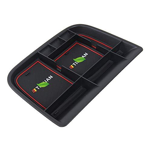 tbparts Tablero de instrumentos del coche Caja de almacenamiento para Tiguan 20102016 tablero de instrumentos Caja de almacenamiento Accesorios para