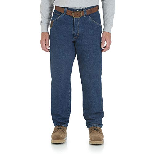 Wrangler Riggs Workwear Men's Lined Relaxed Fit Jean,Antique Indigo,32W x 32L