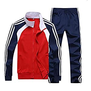 Hanwe Men's Tracksuit Jogging Suits Casual Running Sweatsuits Set Jogger Sweat Suit Classic Striped