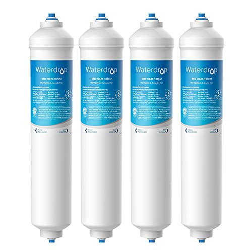 4X Waterdrop DA29-10105J Filtro Frigorifero, Compatibile con Samsung Solo esterno DA29-10105J DA99-02131B HAFEX/EXP DA2010CB 5231JA2010B