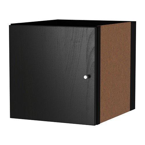 IKEA KALLAX Einsatz mit Tür in schwarzbraun; (33x33cm); Kompatibel mit EXPEDIT