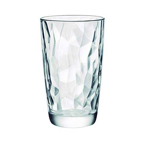 Bormioli Rocco Diamond Trasparente boisson longue verre 470ml, transparent, 6 verre