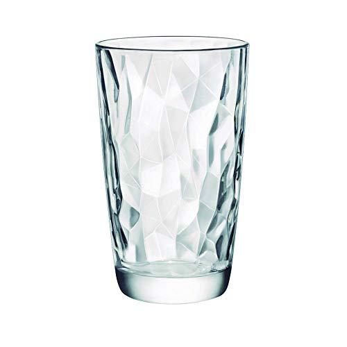 Bormioli Rocco 350240 Diamond - Bicchiere alto 470 ml, 6 pezzi, trasparente