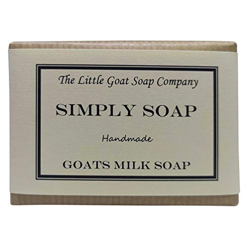 1 x Simply Goats Milk Soap. Unscented 100g. Sensitive Skin. Eczema, Psoriasis, Dermatitis. Dry Skin