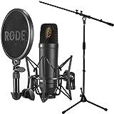 Rode NT1-KIT–Set de micrófono y condensador + Soporte para micrófono Keepdrum