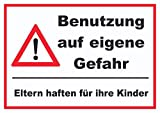 HB-Druck Benutzung auf eigene Gefahr Schild A4 (210x297mm)