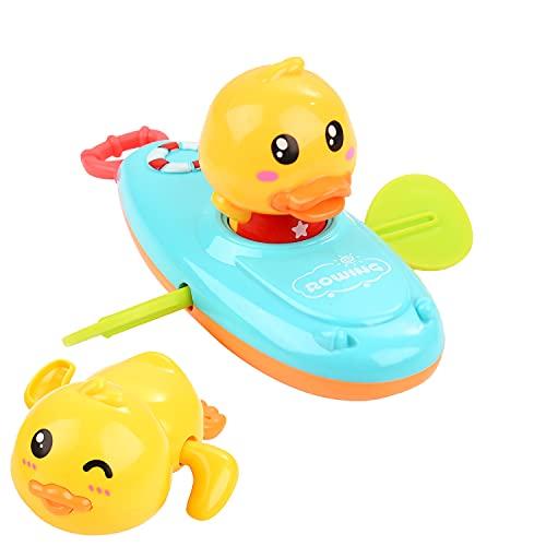 Herefun Baby Badespielzeug, 2 Pcs Badewanne Ente Spielzeug, Uhrwerk Badewanne Spielzeug, Schwimmen Babyspielzeug Baby, Bad Spielzeug Wasserspielzeug, Badewann Geschenk Für Kleinkinder Jungen Mädchen