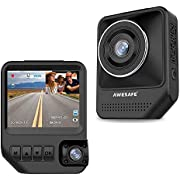 AWESAFE Dual Dash Cam for Cars Front and Inside Dash Cam with 1920X1080P 170 Degrees Wide Angle,Night Vision,Parking Monitor,Motion Detection for Uber,Taix Included 32GB Card