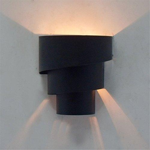 YU-K Chambre Simple Vintage wall lamp creative living salle à manger chambre lumières lumières allée lampe murale à led, mur de l'allée en fer forgé, lampe de chevet chambre à coucher lampe murale, décoration chambre d'enfant, lampe murale, noir, hauteur 20cm φ 18CM