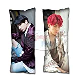 Cosplay-FTW Kpop BTS BMA Jungkook Body Pillow Cover Peach Skin Cotton Polyester Blend 40cm x 100cm (Set of 1, CASE ONLY)