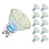 EISFEU Bombillas LED GU10, 5W Equivalente 50W Halógena, Blanco Frío 6000K, Paquete de 10