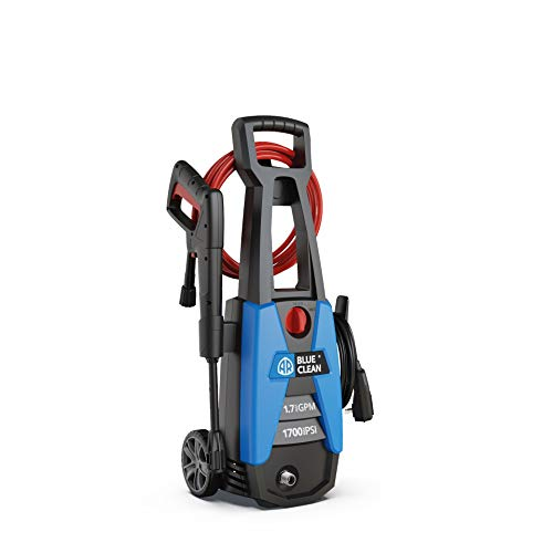AR Blue Clean New Electric 1700 PSI Pressure Washer, with up to 1.7 GPM,...