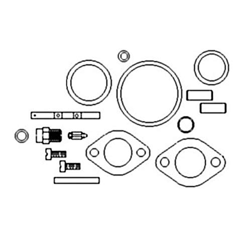 One New Basic Carburetor Kit Fits Universal, Universal Products DLTX-34, Model B Models Interchangeable with A572065, BK37, MSCK18