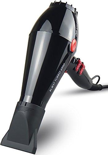 JOHN 2200w Super Fast Drying Professional Hair Dryer Nano Ceramic Ionic Stylist Salon Blower Powerful AC Motor with 2 Concentrator Nozzles Blast Turbo 6900 Glossy Black