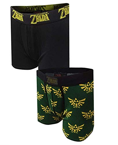 MJC Herren Boxershorts Nintendo The Legend of Zelda, 2er-Pack - Grün - Small