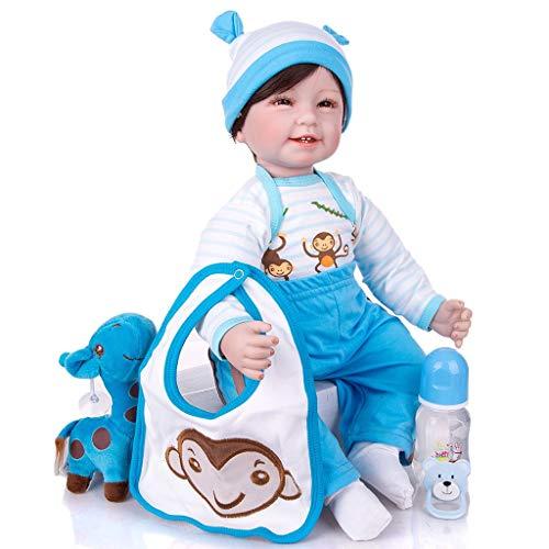 AIOJY Bebés Reborn Suave muñeca de Trapo de Cuerpo 55 CM Realista recién Nacido muñeca de Juguete del Muchacho de Moda para los Regalos de cumpleaños Muchacha de los niños de Navidad