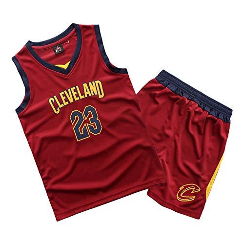 Bulls #23 Jordrn Basketball Trikot für Jungen Mädchen Jugendliche Ärmellos Sport Weste T-Shirt Top und Shorts 2er Set Unisex Schule Schüler Sportswear XS rot
