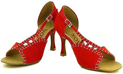 T.T-Q Chaussures de Danse de Profession pour Femme Noir