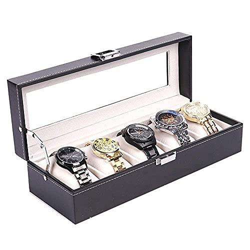 LGR Caja de joyería Caja de Almacenamiento de joyería Cuero de PU Plus Caja de Reloj Larga 5 Caja de joyería de Calavera de algodón de Seda Caja de presentación de Reloj