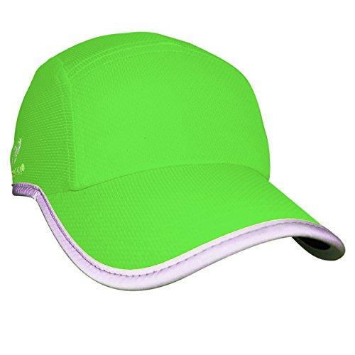 Headsweats Race Hat Riflettente ad Alta visibilità Corsa Cappuccio, Neon Green, One Size