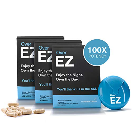 Over EZ Hangover Cure and Hangover Prevention (36 Capsules)