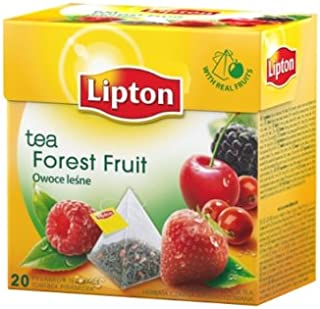 [Pack of 12] Lipton Black Tea - Forest Fruit - Premium Pyramid Tea Bags (20 Count Box)